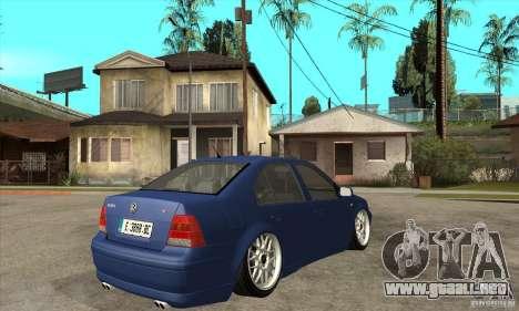 VW Bora VR6 Street Style para la visión correcta GTA San Andreas