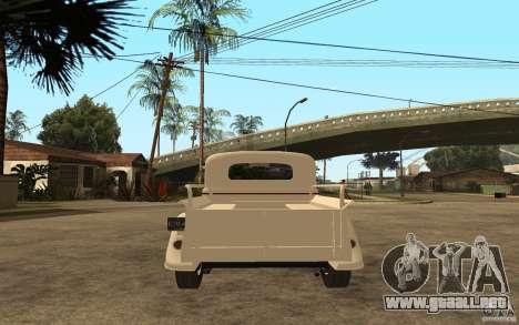 GAS M415 para GTA San Andreas vista posterior izquierda