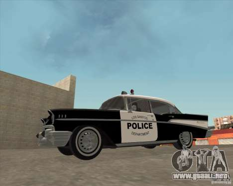 Chevrolet BelAir Police 1957 para la visión correcta GTA San Andreas