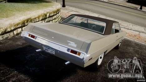 Plymouth Scamp 1971 para GTA 4 Vista posterior izquierda