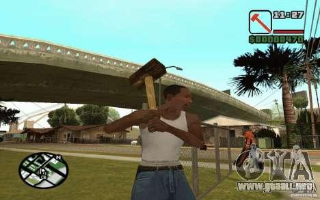 Hoz y martillo para GTA San Andreas quinta pantalla