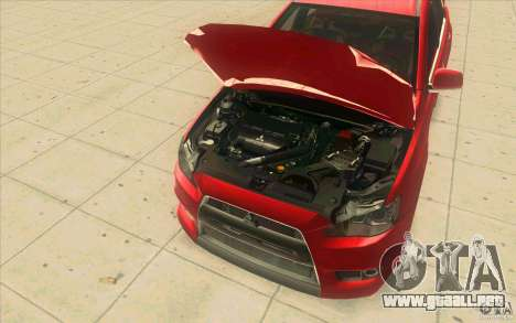 Mitsubishi Lancer Evolution X MR1 para visión interna GTA San Andreas