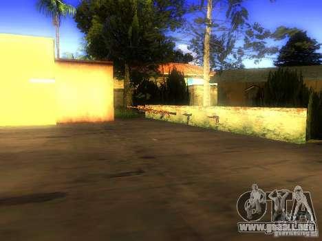 Armas en la calle Grove para GTA San Andreas sexta pantalla