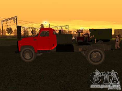 GAZ 53 camiones para GTA San Andreas vista posterior izquierda