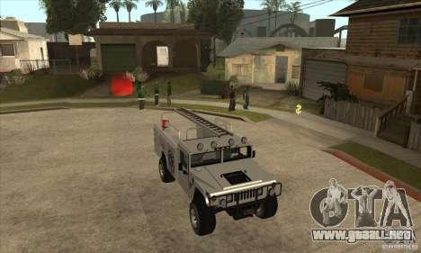 Hummer H1 Utility Truck para GTA San Andreas vista hacia atrás