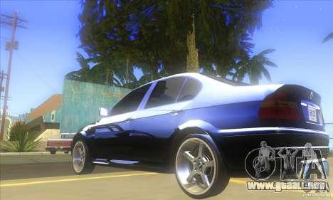 BMW 325i E46 v2.0 para GTA San Andreas vista hacia atrás