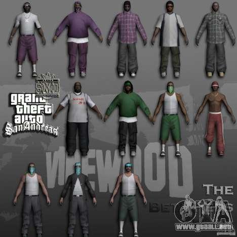 Beta Peds para GTA San Andreas