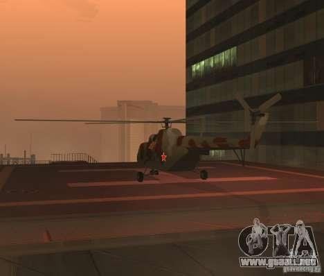 Militar MI-17 para la visión correcta GTA San Andreas