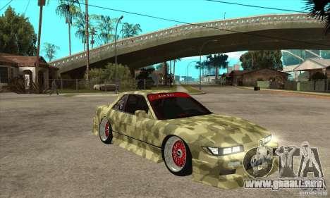 Nissan Silvia S13 Army Drift para GTA San Andreas vista hacia atrás