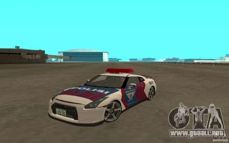 Nissan GT-R R35 Indonesia Police para GTA San Andreas