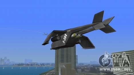 X-304 Gunship para GTA Vice City vista lateral izquierdo