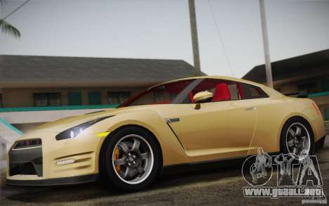 Nissan GTR Egoist para GTA San Andreas vista hacia atrás