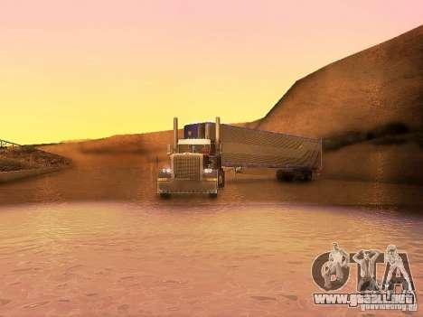 Truck Optimus Prime v2.0 para visión interna GTA San Andreas