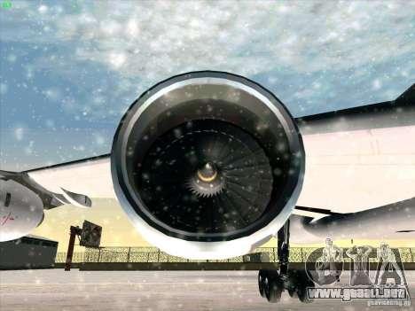 Airbus A-340-600 para la vista superior GTA San Andreas