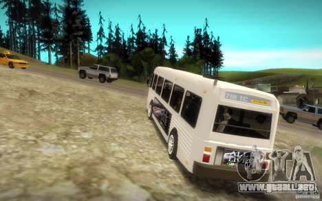NFS Undercover Bus para GTA San Andreas vista posterior izquierda