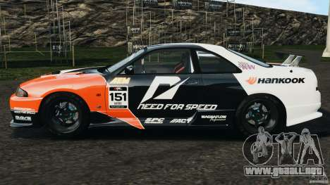 Nissan Skyline GT-R (R33) v1.0 para GTA 4 left