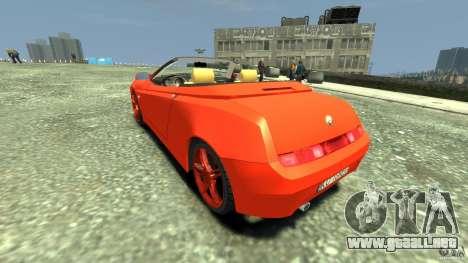 Alfa Romeo GTV Spider para GTA 4 Vista posterior izquierda