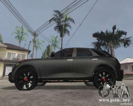 Infiniti FX35 para GTA San Andreas left