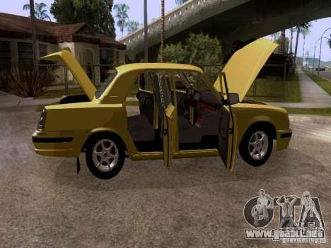 Volga GAZ 31107 para vista lateral GTA San Andreas