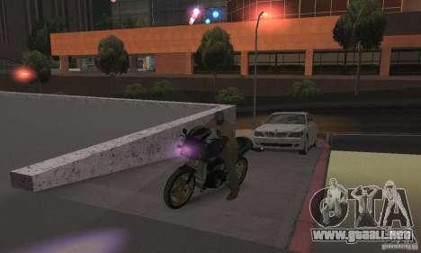 Luz púrpura para GTA San Andreas sucesivamente de pantalla