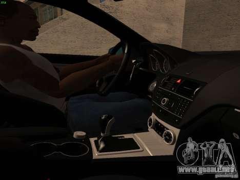 Mercedes-Benz C36 AMG para vista inferior GTA San Andreas