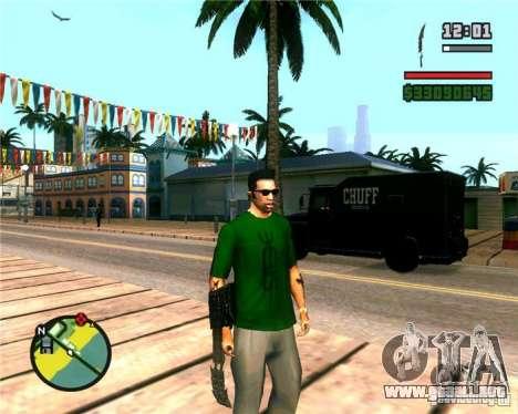 Las garras de un depredador para GTA San Andreas sucesivamente de pantalla