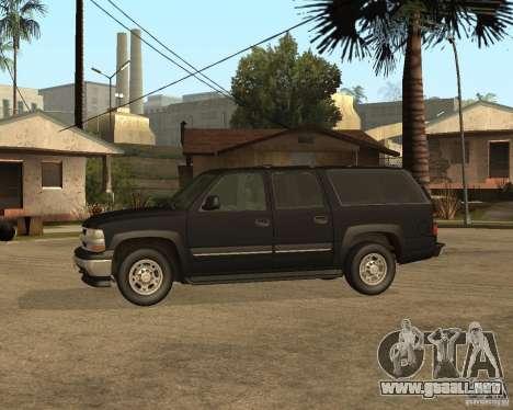 Chevrolet Suburban FBI para GTA San Andreas vista posterior izquierda