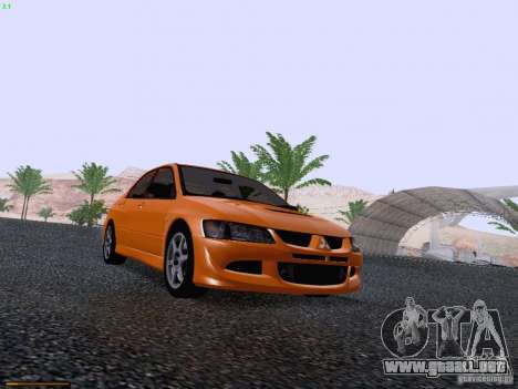 Mitsubishi Lancer Evolution VIII para visión interna GTA San Andreas