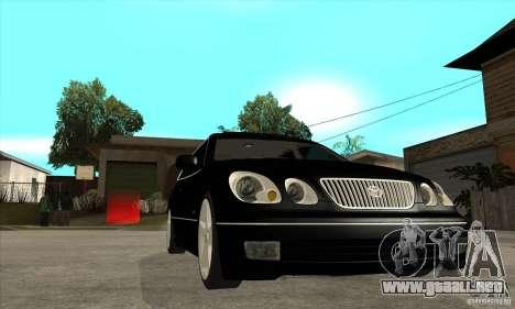 Año 2001 TOYOTA ARISTO para GTA San Andreas vista hacia atrás