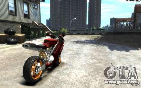 Ducati 999R para GTA 4 Vista posterior izquierda