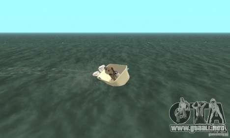 Bathtub Dinghy para GTA San Andreas vista hacia atrás
