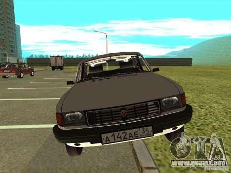 Volga GAZ 31022 para GTA San Andreas vista posterior izquierda