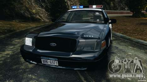 Ford Crown Victoria Police Interceptor 2003 LCPD para GTA 4 vista lateral