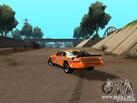 Toyota Camry Nascar Edition para GTA San Andreas vista posterior izquierda