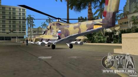 Mi-24 HindB para GTA Vice City vista lateral