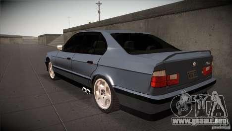 BMW M5 E34 1990 para GTA San Andreas vista posterior izquierda
