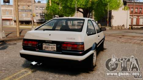 Toyota Sprinter Trueno GT 1985 Apex [EPM] para GTA 4 Vista posterior izquierda
