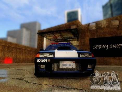 Nissan Skyline R32 Police para GTA San Andreas vista hacia atrás