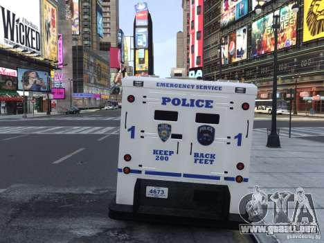 Enforcer Emergency Service NYPD para GTA 4 visión correcta