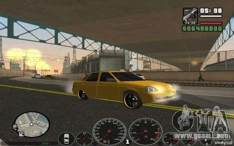 VAZ Lada Priora Taxi para la visión correcta GTA San Andreas