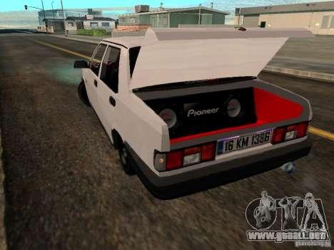 Tofas Sahin DRIFT para GTA San Andreas vista posterior izquierda