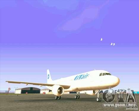 Airbus A-320 aerolínea UTair para GTA San Andreas left