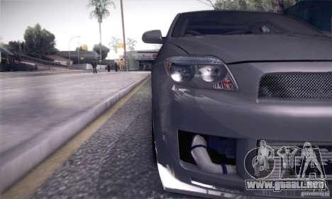 Scion Tc Street Tuning para visión interna GTA San Andreas