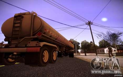 Trailer Kenworth T600 para la visión correcta GTA San Andreas