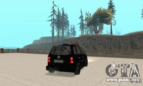 Volkswagen Touran 2006 Police para GTA San Andreas left