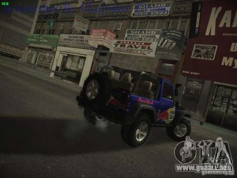 Jeep Wrangler Red Bull 2012 para GTA San Andreas left