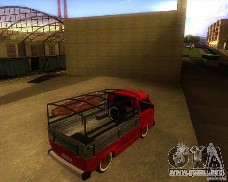 Volkswagen Transporter T3 pickup para la visión correcta GTA San Andreas