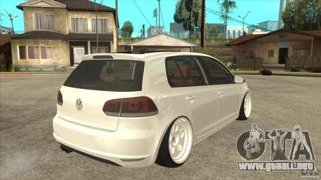 Volkswagen Golf VI 2010 Stance Nation para la visión correcta GTA San Andreas