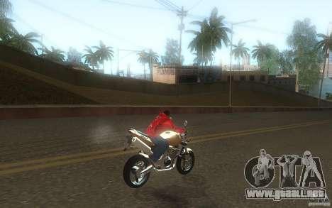 Honda CBF 600 Hornet para GTA San Andreas vista hacia atrás