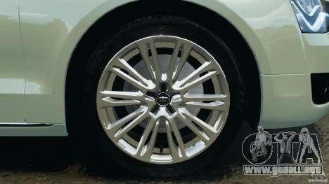 Audi A8 Limo v1.2 para GTA 4 interior